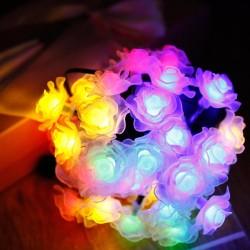 حبل اضاءة على شكل ورد ملون