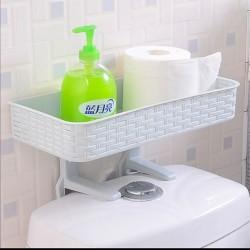 منظم بلاستيكي لاغراض الحمام يحتوي على تعليقتين و رف