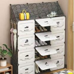 خزانة أحذية بلاستيكية ( موديل رقم 4) ب ١٢ صندوق و بدفات تفتح للأعلى