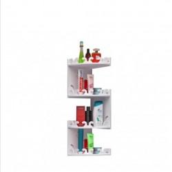 منظم لاغراض الحمام يتم تعليقه على الزاوية يحتوي على أربع رفوف