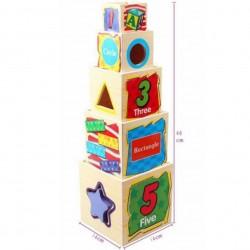 مجموعة العاب صندوق الحكمة الخشبي