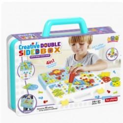 لعبة الصندوق الإبداعي لتعليم الطفل التركيب