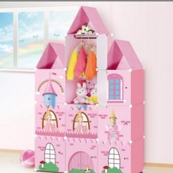 خزانة أطفال بلاستيك على شكل قلعة