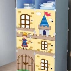 خزانة ملابس بلاستيكية للاطفال
