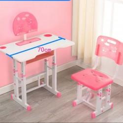 مكتب دراسي مع كرسي للاطفال مع مكان لوضع الجهاز اللوحي