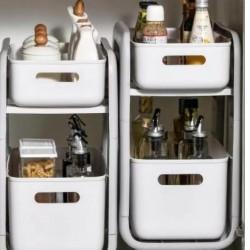 منظم تخزين أغراض المطبخ مع عجلات