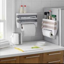 حامل ثلاثي للمطبخ (ورق قصدير /مغلف طعام/ورق نشاف)